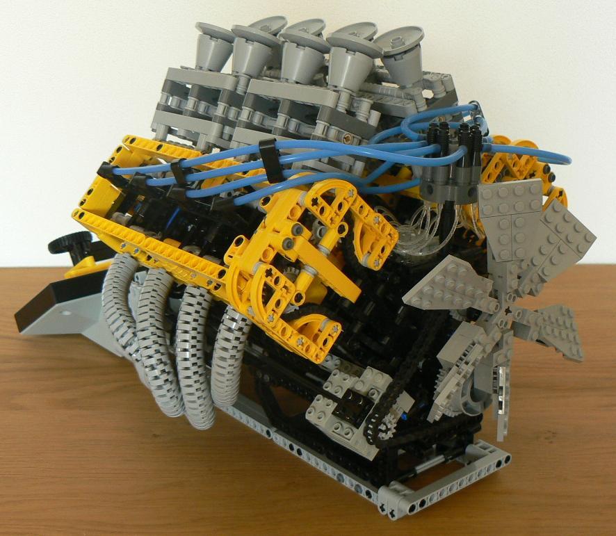 Barman's V-8 Engine Building Instructions/ 2,862 Parts - LEGO ...
