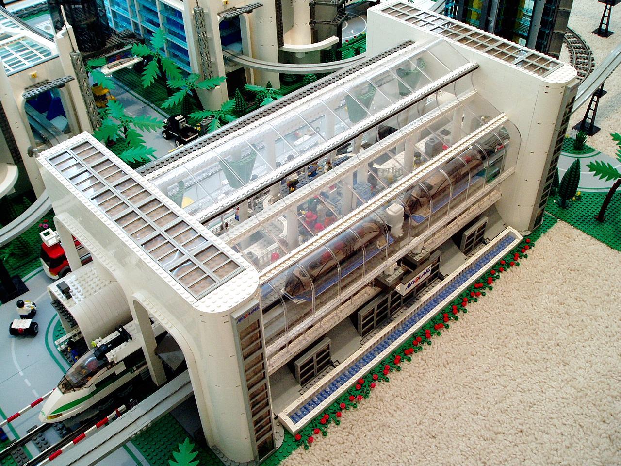 Brickshelf Find Bricktopia Station Airport Lego Town