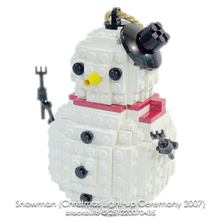 snowman christmas light up ceremony 2007. Black Bedroom Furniture Sets. Home Design Ideas
