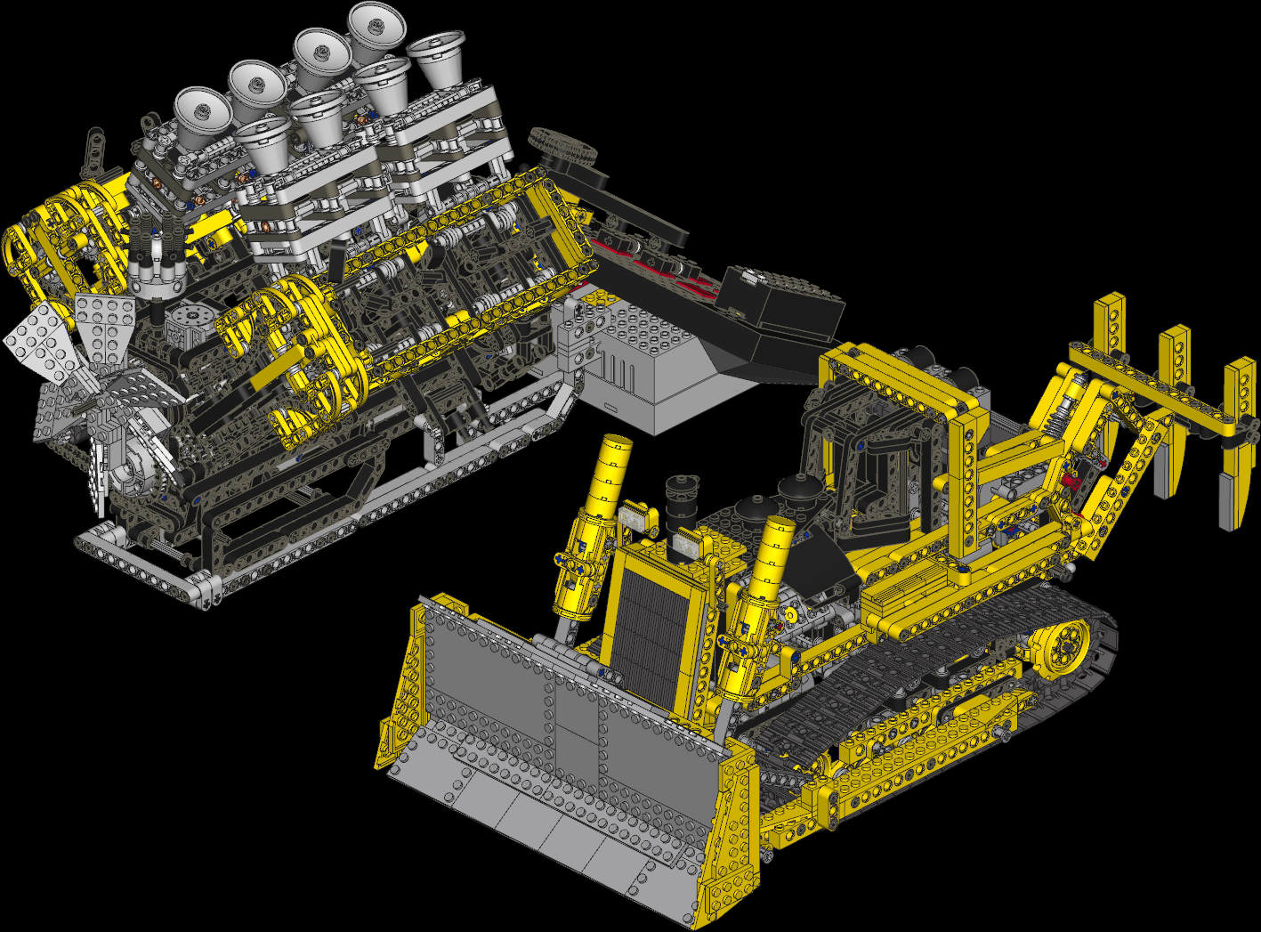 Barmans V 8 Engine Building Instructions 2862 Parts Lego