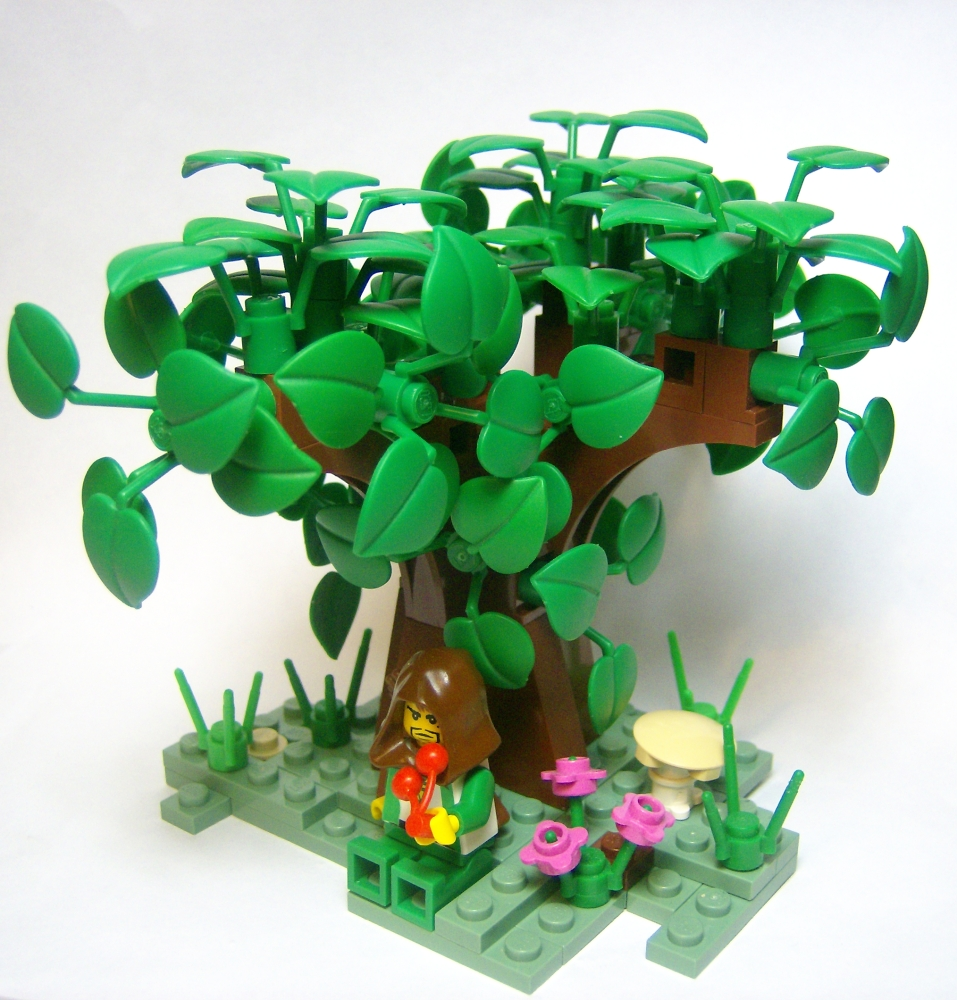 lego minecraft tree instructions