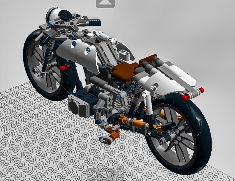 lego technic motorcycles custom bmw r100 ldd project by. Black Bedroom Furniture Sets. Home Design Ideas