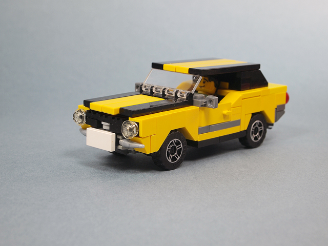 Moc Yellow Muscle Car Lego Town Eurobricks Forums