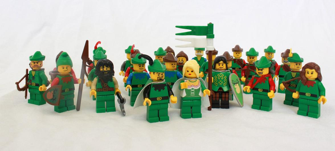 An Army Of LEGO Forestmen Robin Hood And His Merry Men