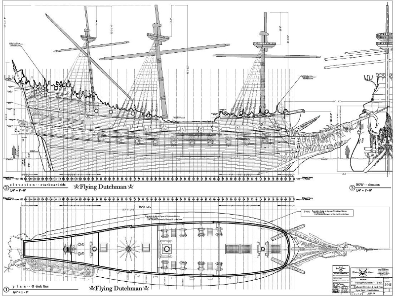 Displaying (20) Gallery Images For Pirate Ship Blueprint...