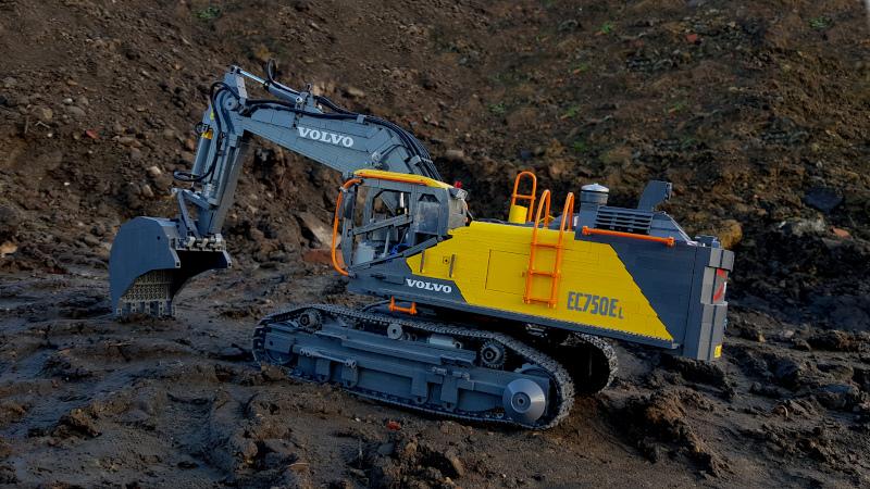 lego pneumatic excavator