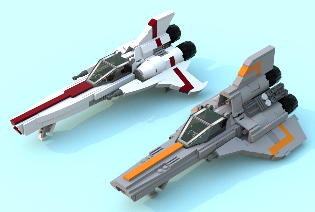 Ldd Moc Colonial Vipers Lego Sci Fi Eurobricks Forums