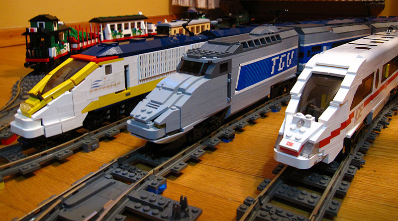 MOC: High Speed European Passenger Trains - LEGO Train Tech ...
