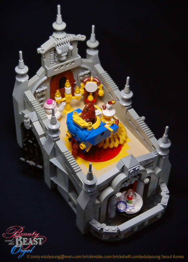 Beauty and  the Beast Lego music box