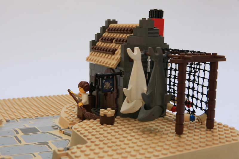 Lego Medieval House moc - medieval fisherman's house - lego historic themes