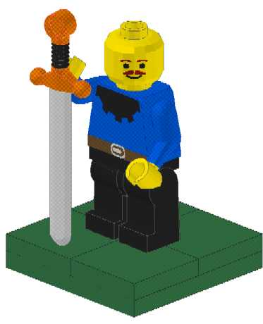 Franklin as a Lego Castle Mini-Fig
