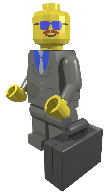 Franklin as a LEGO Town Minifig