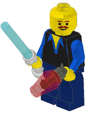 Franklin as a Lego Star Wars Minifig