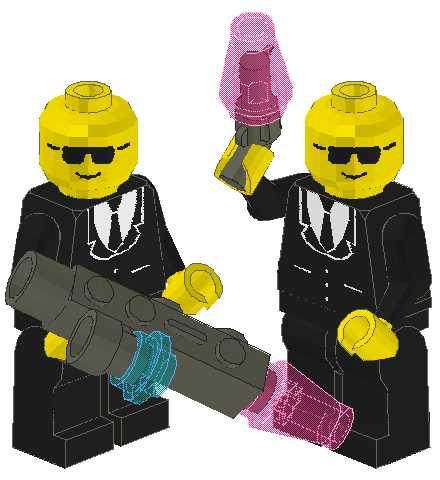 Lego Minifig Men In Black Mibs