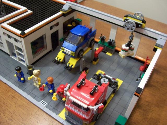 Lego City Garage : Lego city garage moc lego town eurobricks forums