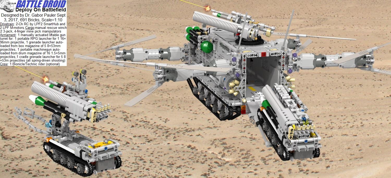 MTT unloads battle droids on battlefield