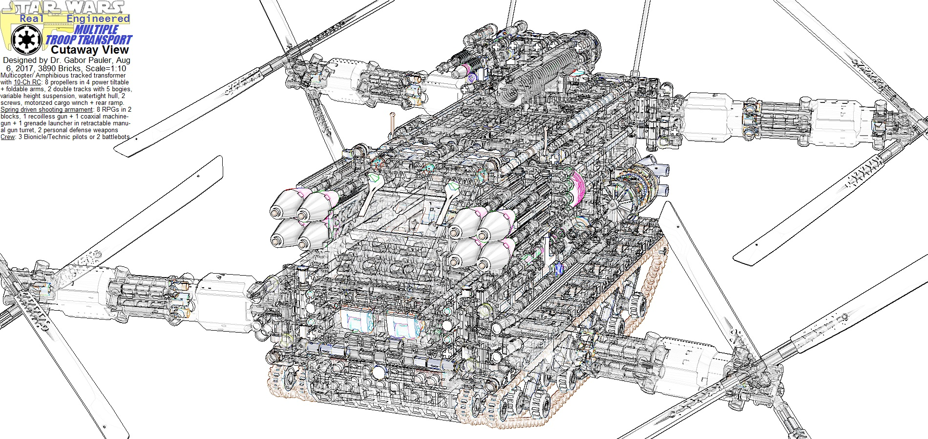 Multiple Troop Transport cutaway view