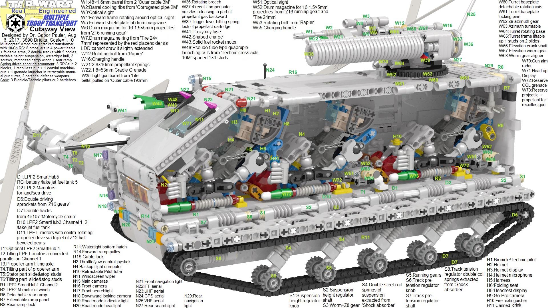 Multiple Troop Transport flight cutaway view