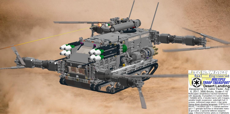 Multiple Troop Transport lands in desert
