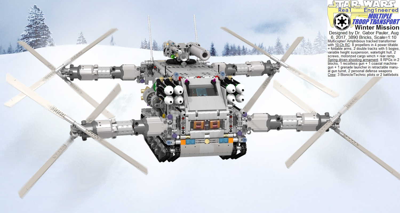 Multiple Troop Transport in winter mission