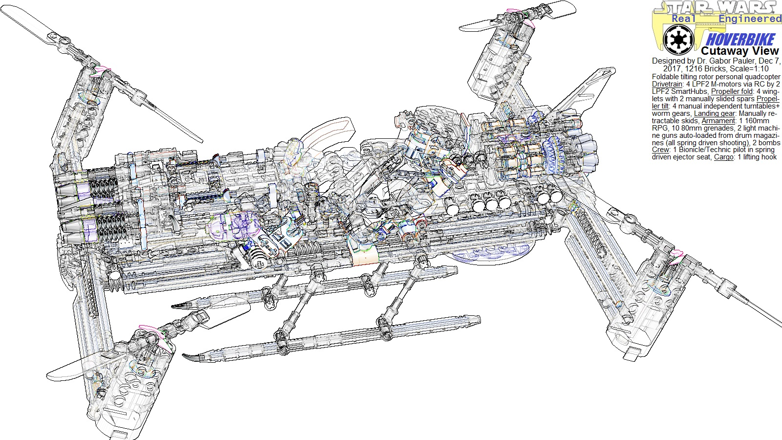 Cutaway view of Hoverbike
