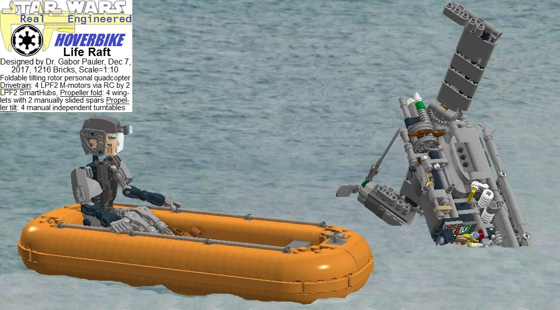 Life raft of Hoverbike deployed