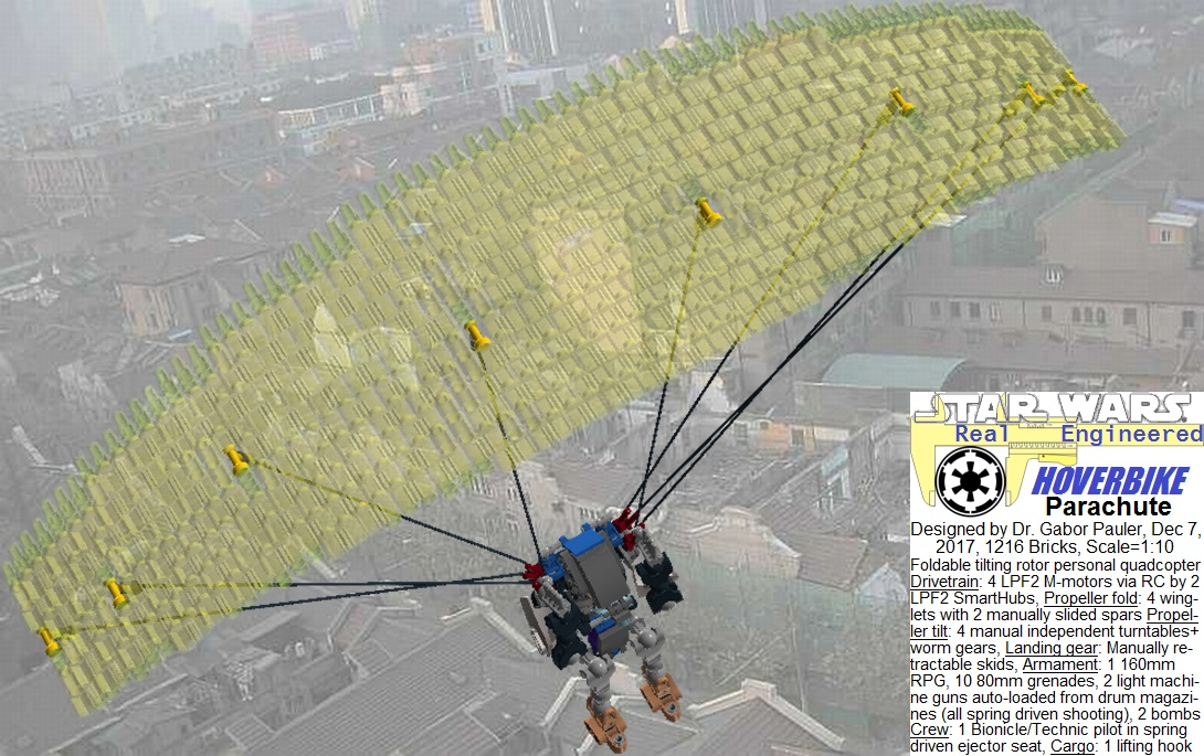 Parachute of ejector seat is opened