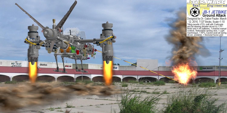 Ground attack by JB-1