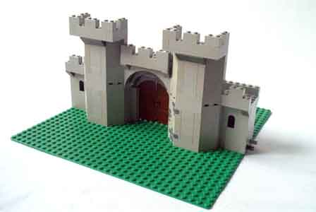 ... end of the gate, the walls are 8 1/3 tall, and meet in the center