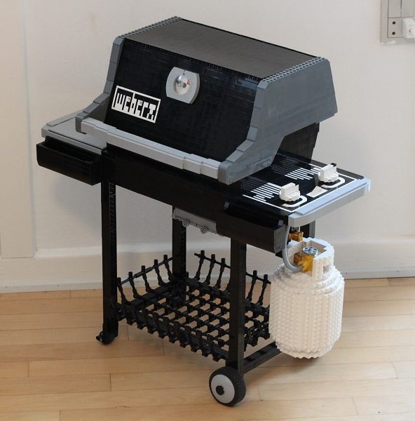 Moc weber gas grill special lego themes eurobricks for Weber grill danemark
