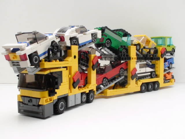 It was possible to fit 11 four studs wide vehicles onto it by simply ...