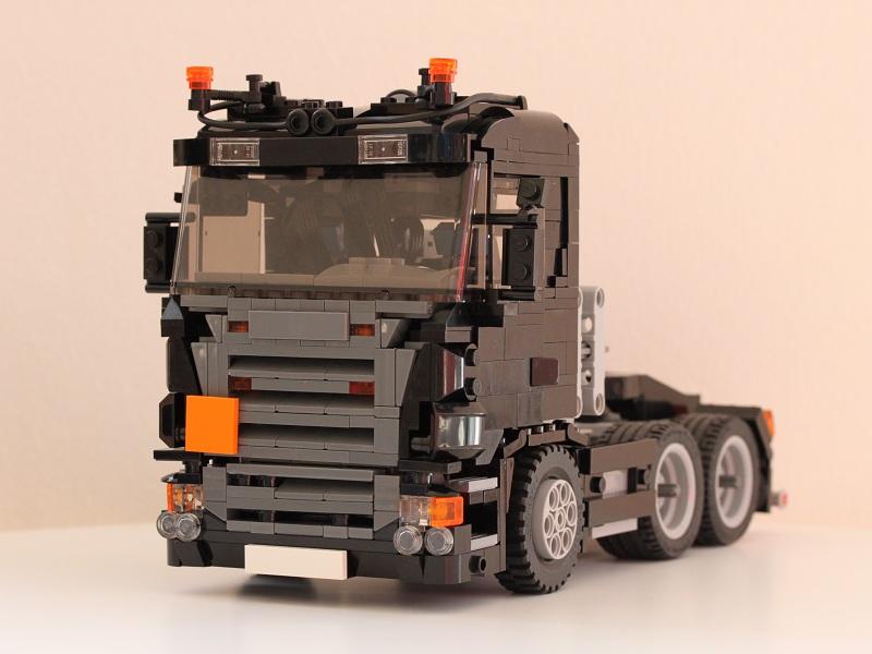 lastbil med fast lad