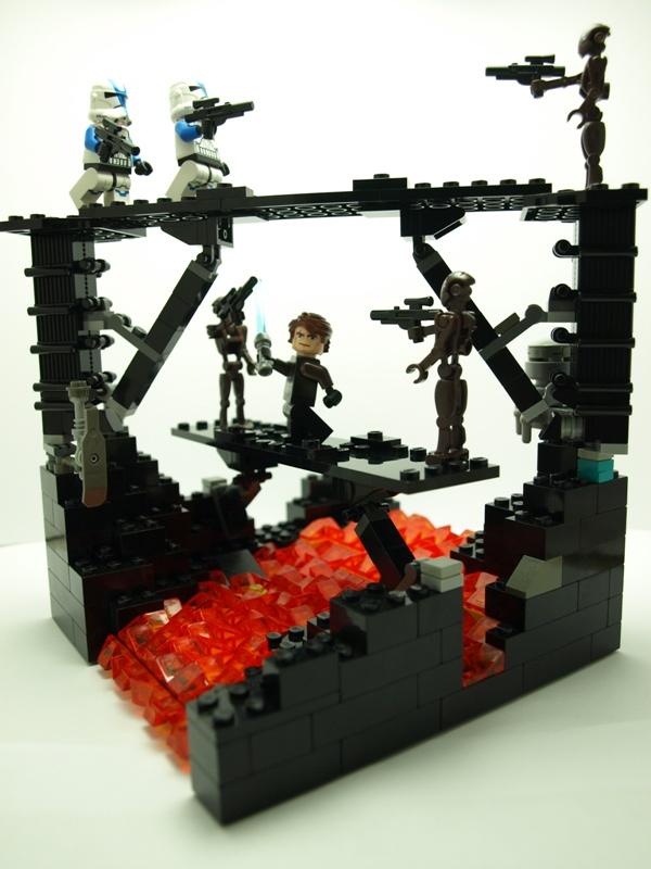 Moc battle of mustafar lego star wars eurobricks forums - Lego star wars base droide ...