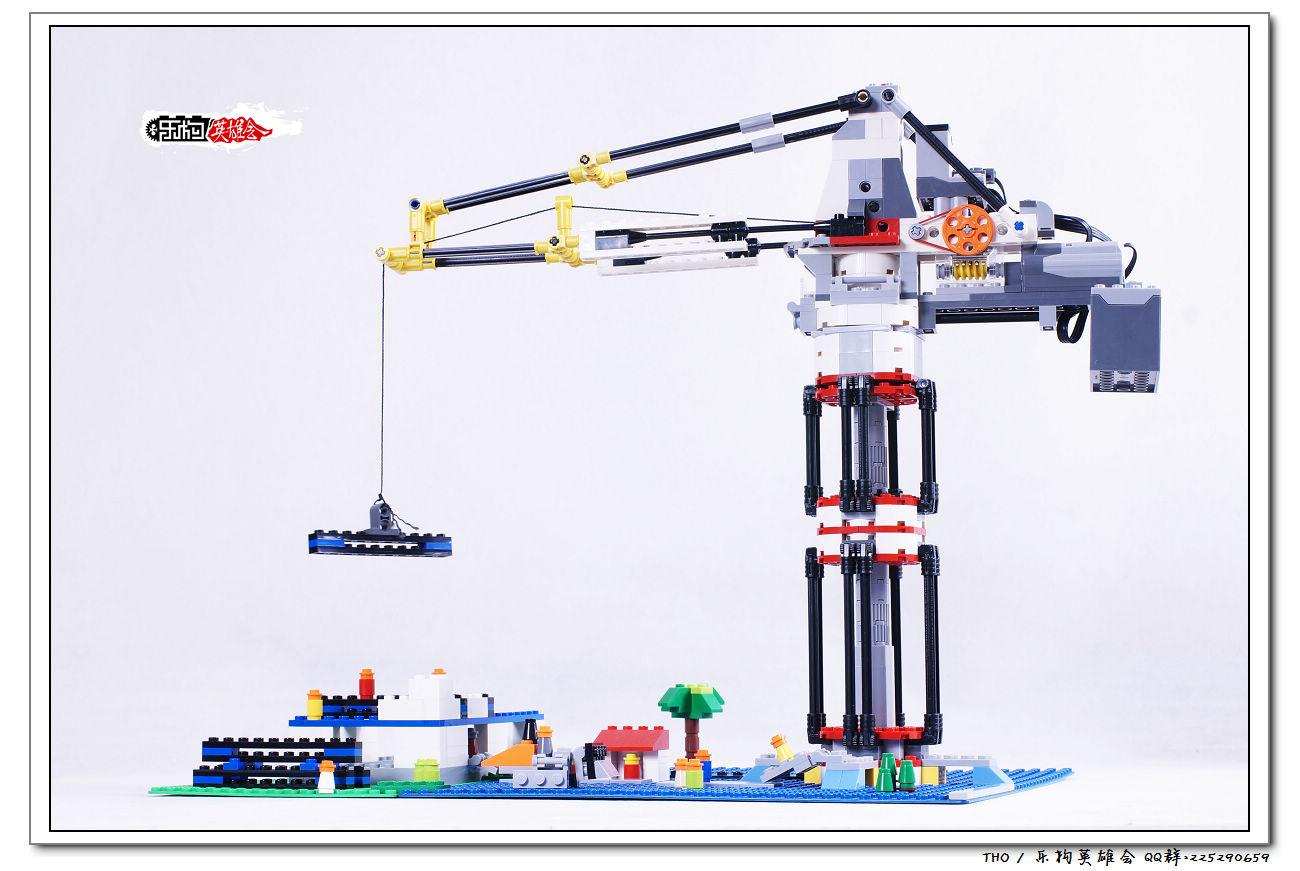 乐高动力机械塔吊