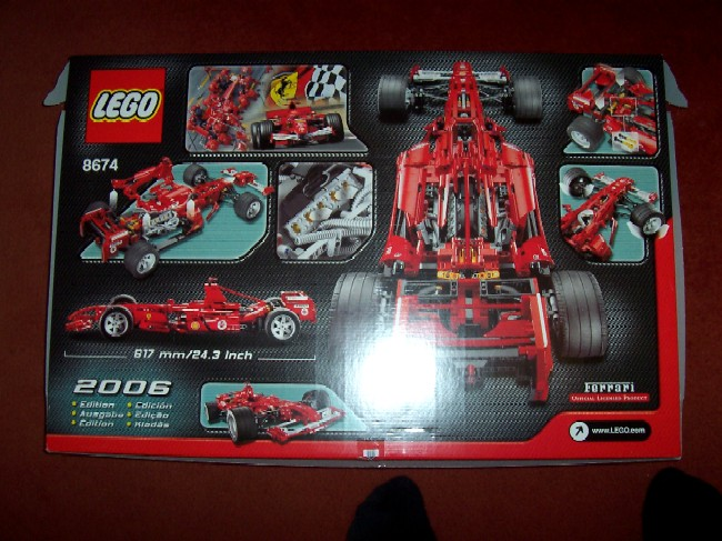 Review 8674 Ferrari F1 Racer 1 8 Lego Licensed