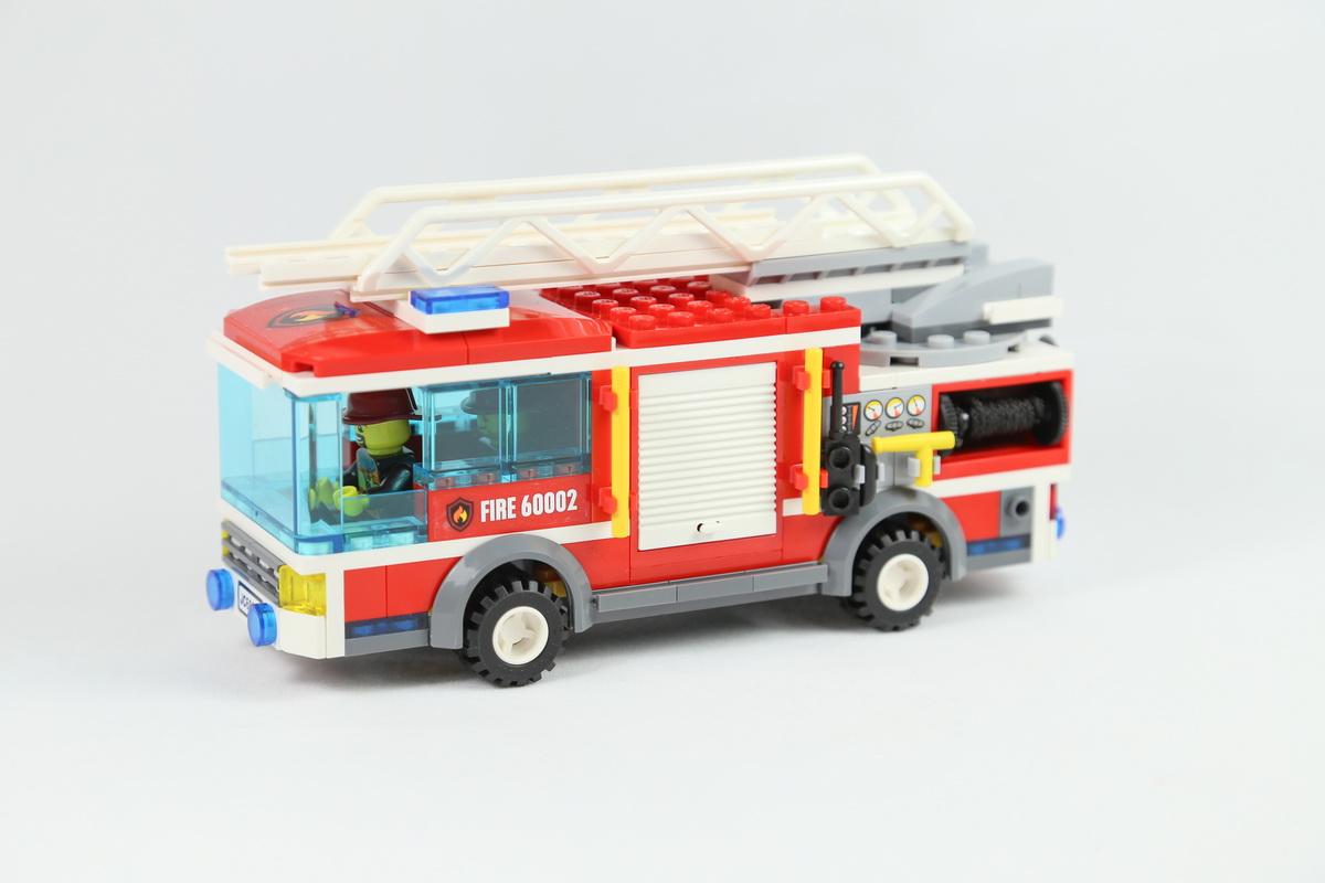 大货车简笔画-2013 城市系列 lego 60002 大型消防救火车 评鉴