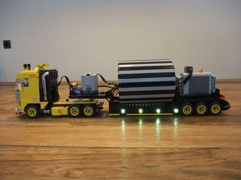 Lego Tractor Trailer : Papi s lego technic tractor trailer