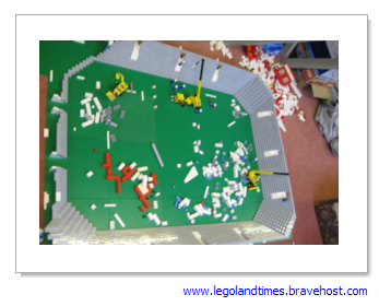 how to build a football stadium out of legos