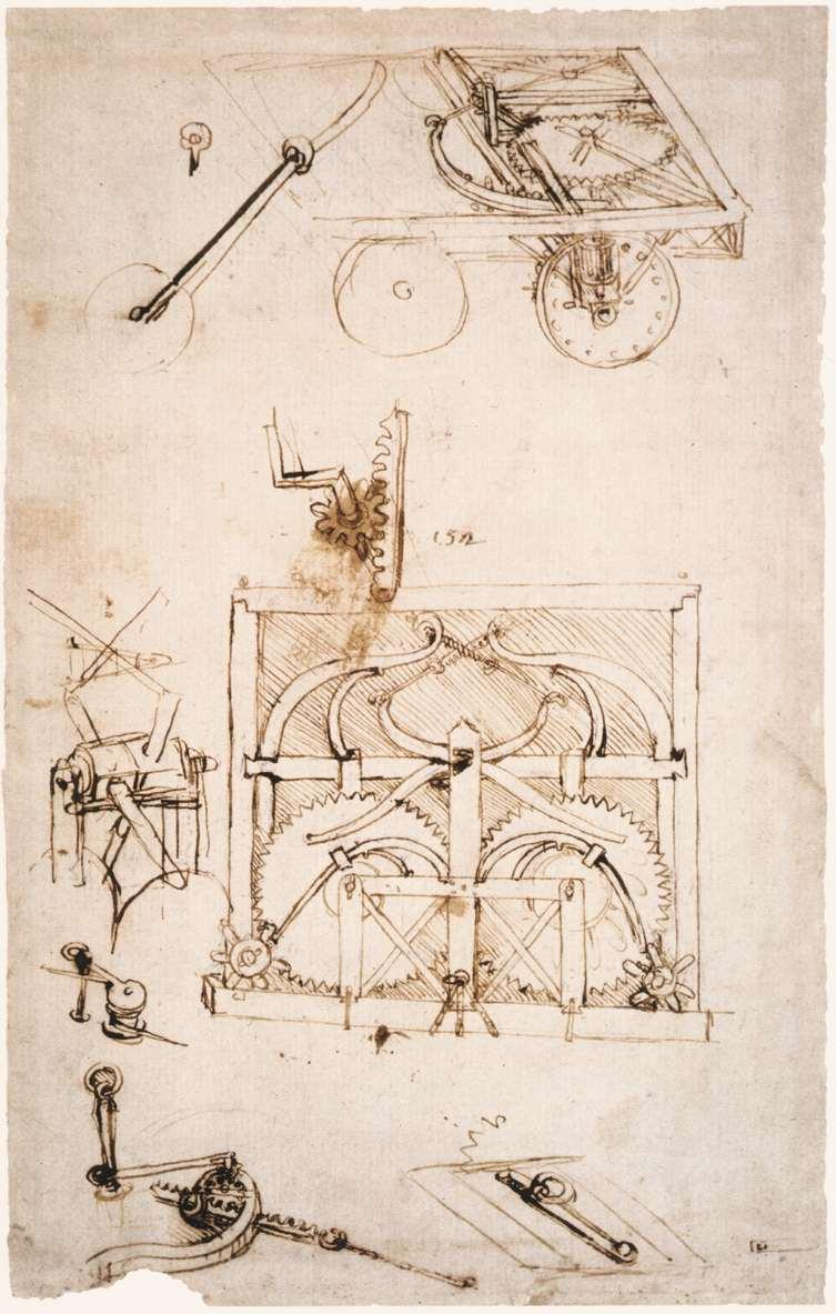 El automóvil fue concebido por Leonardo da Vinci