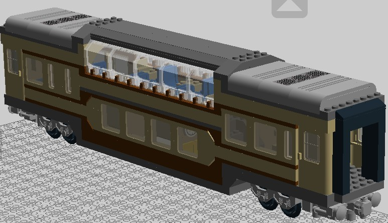 lego 城市专区 69 【ldd列车厂】双层观光车厢  打开后的内部结构.
