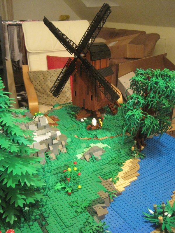 Середньовічний вітряк