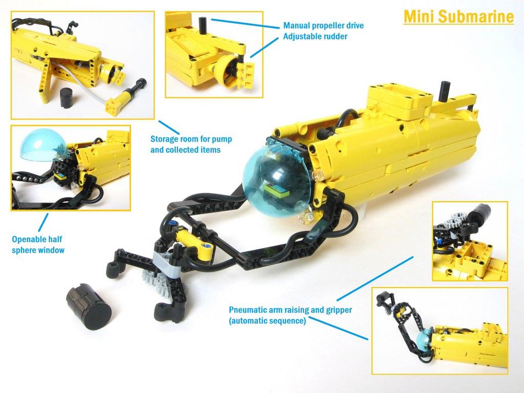 лего мини подводная лодка
