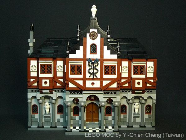 中世纪城堡主堡内部结构图
