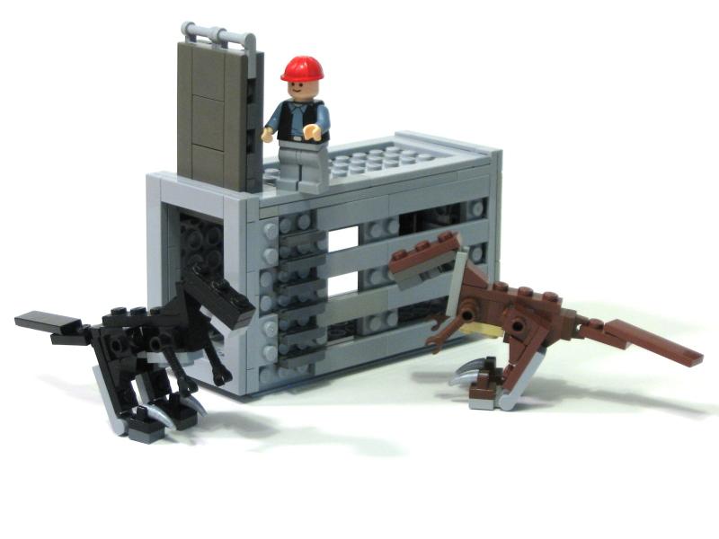 Как сделать своего динозавра из лего