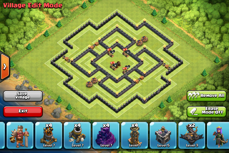 gutes clash of clans lvl 9