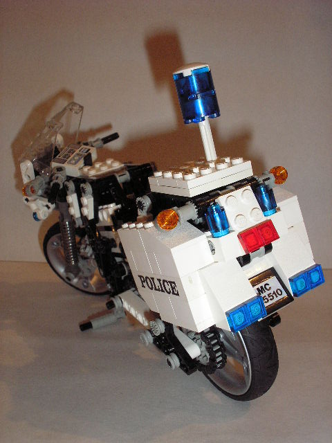 how to make motorcycle look police