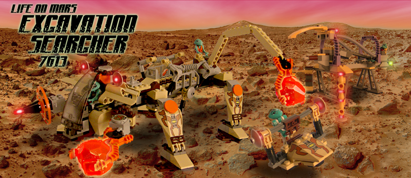 NEW Lego 7316 Space Life On Mars Excavation Searcher