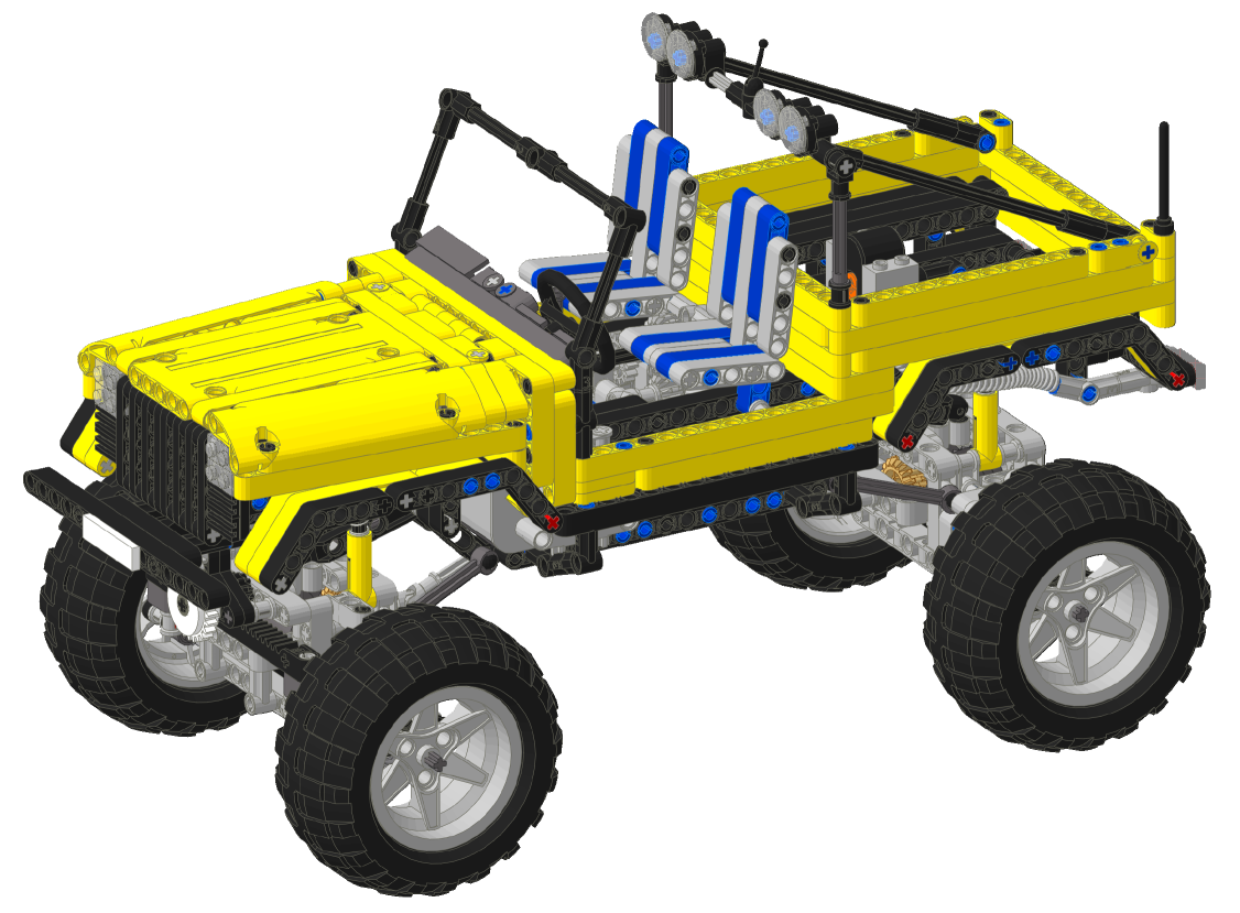 Trial Jeep Lego Technic And Model Team Eurobricks Forums