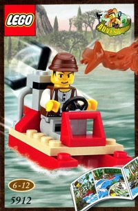 LEGO Adventurers Dino Island 5912 Mike's Swamp Boat