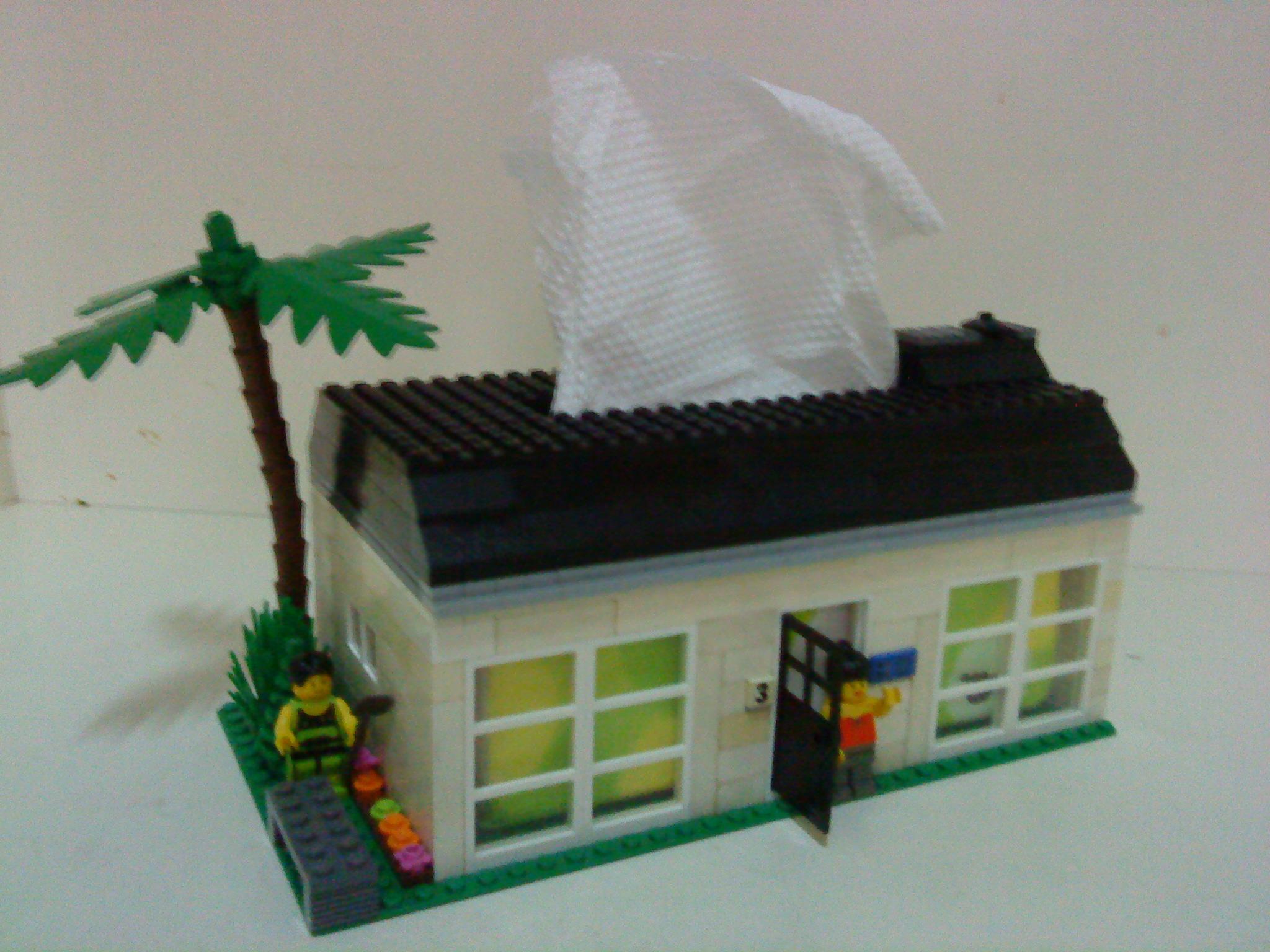 房屋造型面纸盒